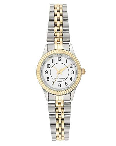 Amazon Essentials Women's Easy to Read Two-Tone Bracelet Watch, AE/5005WTTT