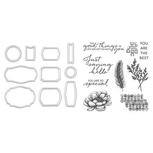 Nesrunx Stanzschablonen für Kartenherstellung, selbstgemachte Siegelblumen-Serie, Stanzform, Kartendekorations-Set (03 Stanzformen + Dichtung)