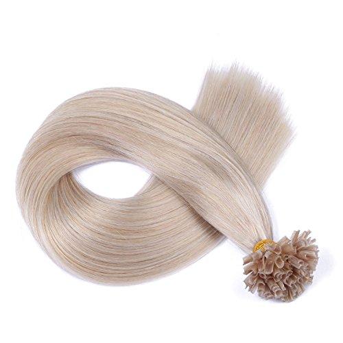 Keratin Bonding - # GRAU - 40cm - 150 Strähnen - 0,5g - 100% Remy Echthaar Haarverlängerung U-Tip Extention hohe Qualität by NOVON Hair Extensions mit sehr hoher Qualität