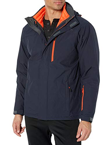 Free Country Men's Waterproof Stretch Down Systems Jacket, Dark Navy, X-Large