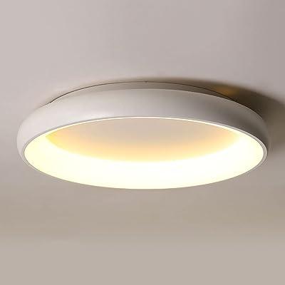 LPFWSK Plafonnier Rond réglable à Gradation Tricolore Lampes LED intégrées Lampes de Plafond de décoration de Style Simple et Moderne à économie d'énergie et respectueux de l'environnement