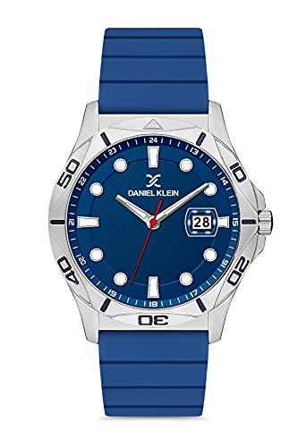Daniel Klein Reloj de pulsera para hombre (DK12583-1) – Correa de silicona – Relojes analógicos de moda para hombre de 46 mm – Movimiento de cuarzo japonés – Índices redondos – muchos colores