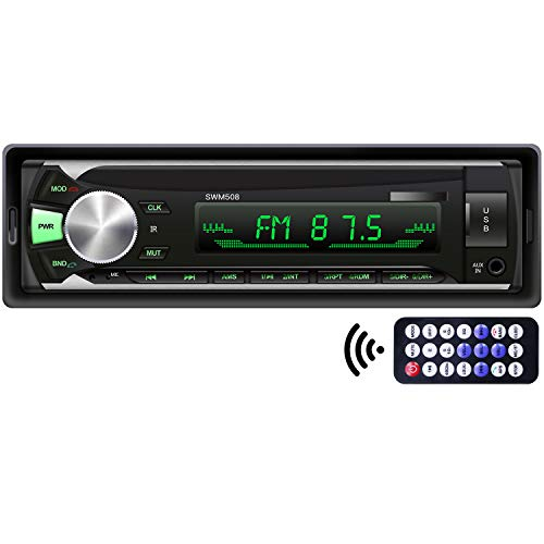 Single Din Car Stereo with Bluetooth, Car Audio Receiver with Music Collection Function, Multicolor Backlight, 1 Din FM Radio MP3 Player Support USB/TF/AUX Handsfree Calling