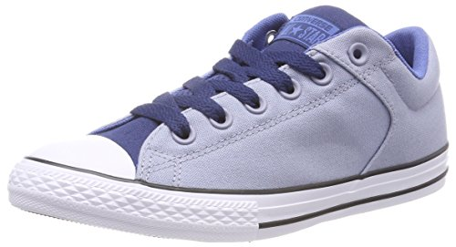 Converse Unisex-Kinder CTAS HIGH Street Slip Slip On Sneaker, Mehrfarbig (Glacier Grey/Navy/Nightfall Blue), 27 EU