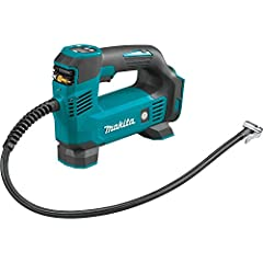 Conveniently tops off cars and light truck tires with speed and ease Easily inflates bicycle tires, sports balls, and more Makita-built motor delivers up to 120 PSI capability Auto-stop function automatically stops inflation when preset air pressure ...