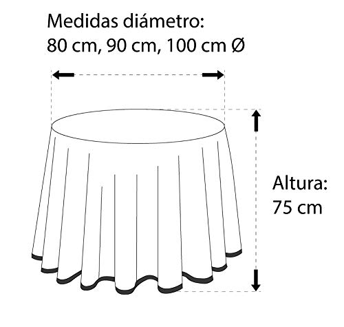 Martina Home Ribero - Falda para mesa camilla , Negro, Redonda de ...