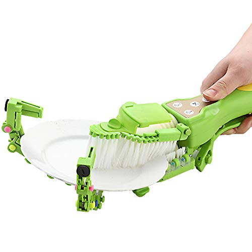 fang zhou Handheld Automatic Dish Scrubber Brush,...