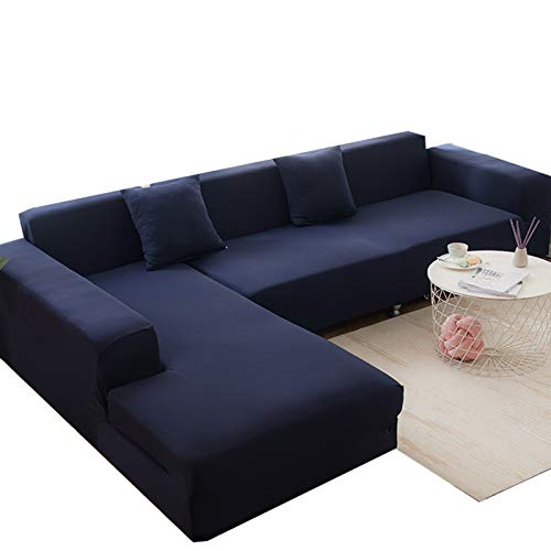 MKMKL Funda de sofá reversible, fácil de llevar, elástica, funda de sofá, funda de sofá, color cian, L