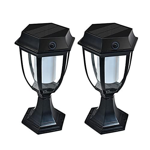 GAOJINXIURZ Solar Pfostenleuchten Solar Pfostenleuchten Outdoor Garten Wasserdicht Solar Zaunlicht LED Pfosten Kappe Licht für Pfosten, Deck, Terrasse, Zaun, Säule, Weg