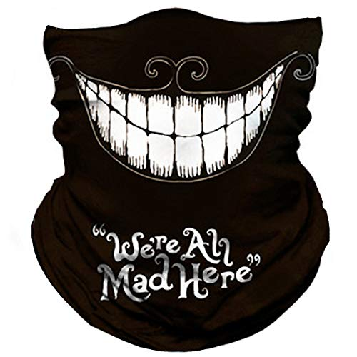 "Skull Face Mask ""We're All Mad Here"""