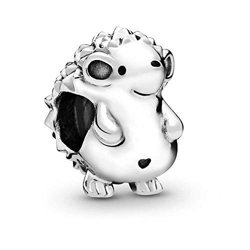 MiniJewelry - Abalorio de plata de ley con diseño de elefante, diseño de búho, coala, erizo, para pulseras, zoológico, para mujeres y niñas Plateado