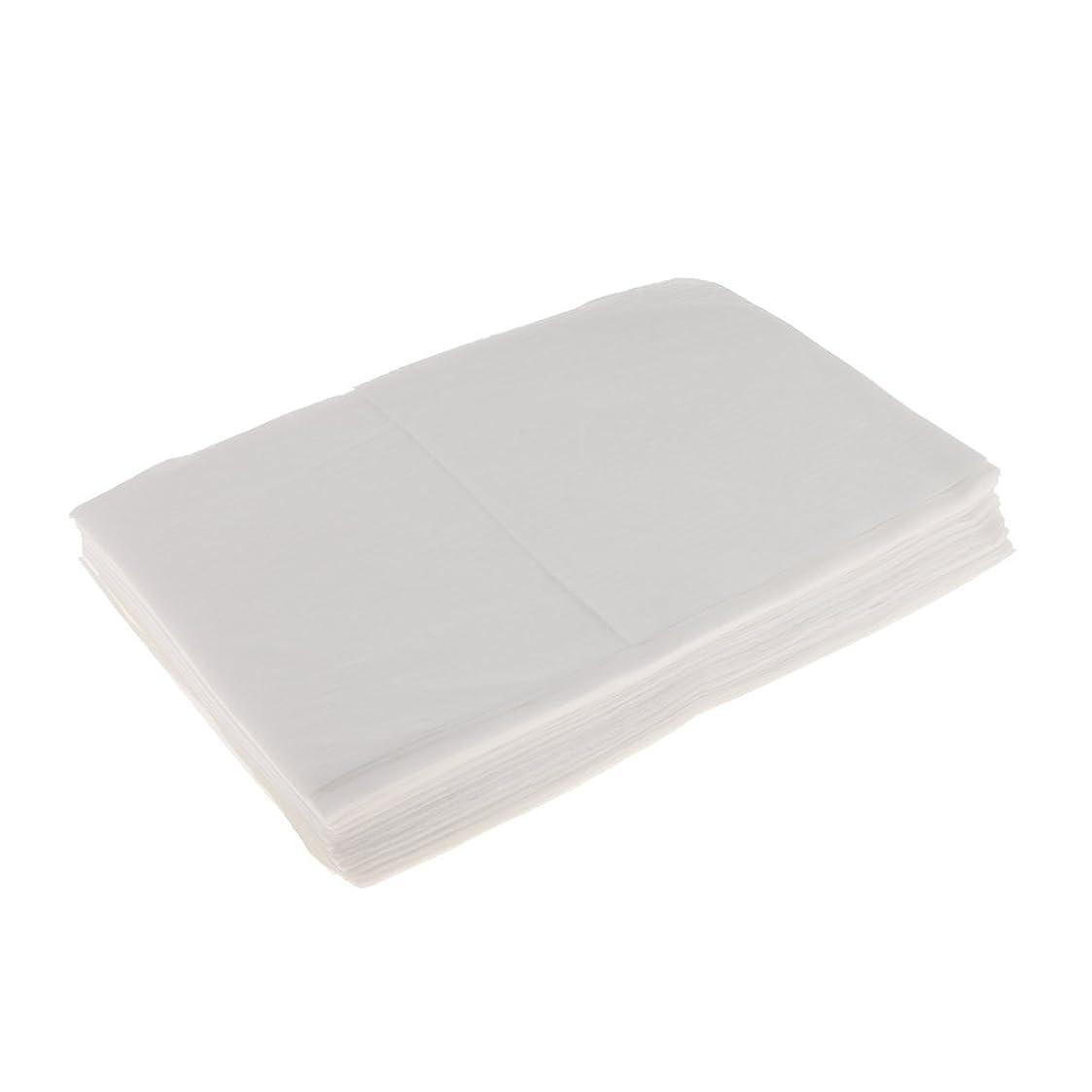 マナー多様体プレミアムKesoto 10枚 使い捨てベッドシーツ 使い捨て 美容 マッサージ サロン ホテル ベッドパッド カバー シート 2色選べ - 白