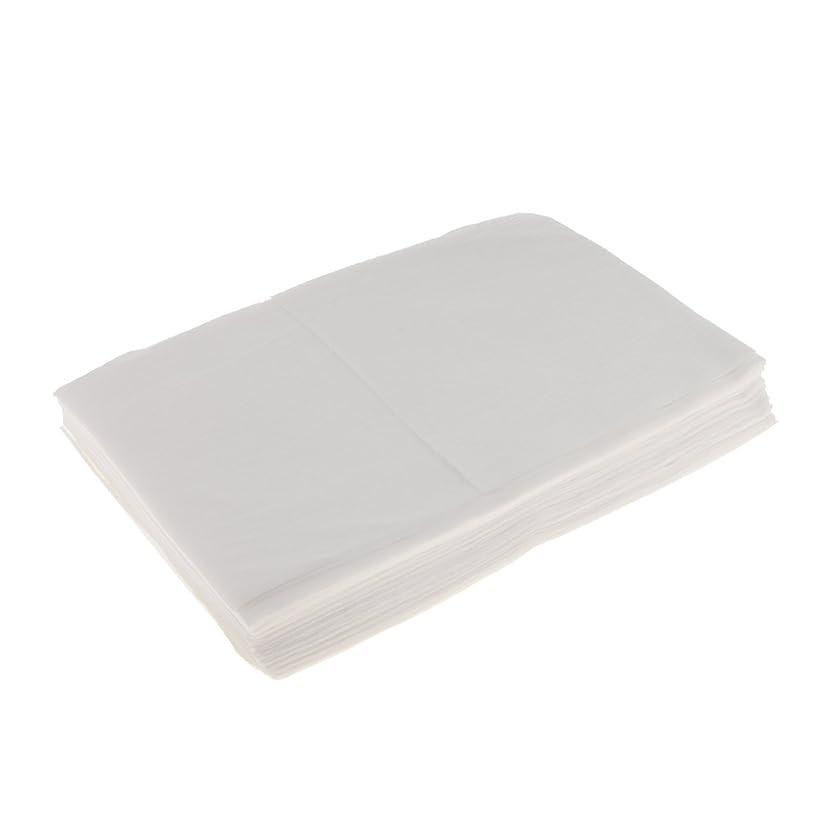 酸化物事故混雑Kesoto 10枚 使い捨てベッドシーツ 使い捨て 美容 マッサージ サロン ホテル ベッドパッド カバー シート 2色選べ - 白