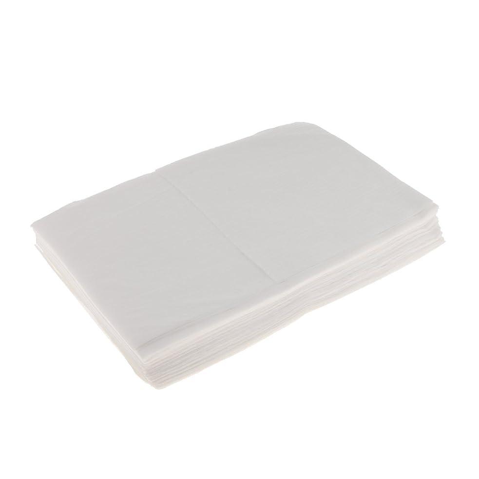 お肉役に立たない実行Perfk 10枚 使い捨て ベッドシーツ 美容 マッサージ サロン ホテル ベッドパッド カバー シート 2色選べ - 白