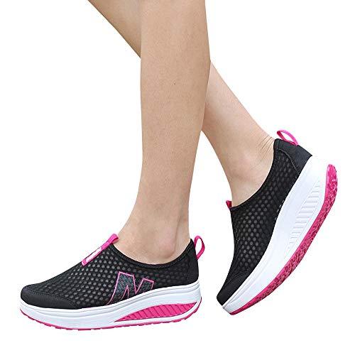 Alaso Mocassins Femmes Casuel Confort Slip on Espadrilles Chaussures Compensées Basket Femmes Wedge Sneakers Chaussures de sport
