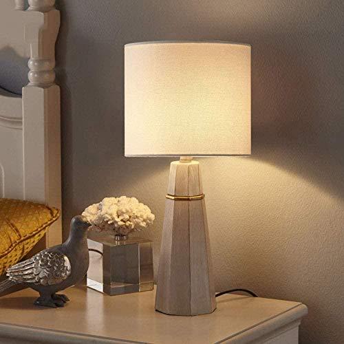 Lámpara individual nórdica de cemento de imitación simple, lámpara de noche de resina de color claro, dormitorio, modelo de lujo, estudio, hogar, sala de estar, luces, 23 cm * 47 cm