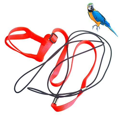 Fovely Papageienvogelgeschirr Leine Anti-Biss-Flugtrainingsseil - Outdoor-Trainingsseile für Papageienvögel
