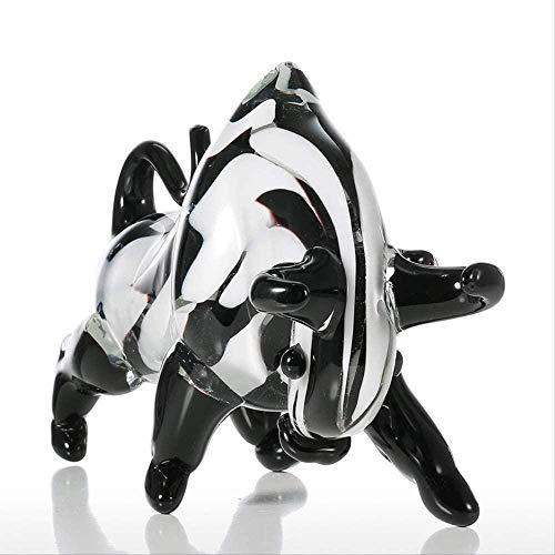 ZHIFENGLIU Accessoires décoratifs Sculpture Ornements de Vache Noir et Blanc Décoration créative Cadeaux Ornement Artisanat Bureau à Domicile Bureau Jardin