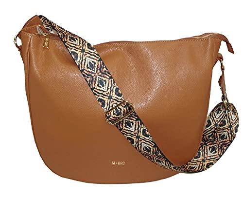M*BRC Saco mediano de piel by Max Brazaletes línea OBONA cuero Made in Italy leather