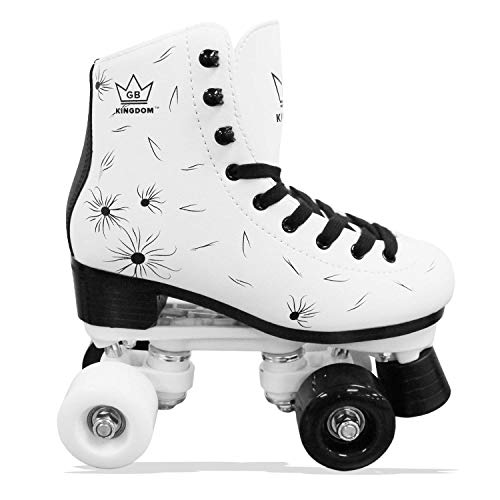 Kingdom GB Venus v2 Quad Rollschuhe 4 Rollen Skates (Weiß/Schwarz, 31 EU)