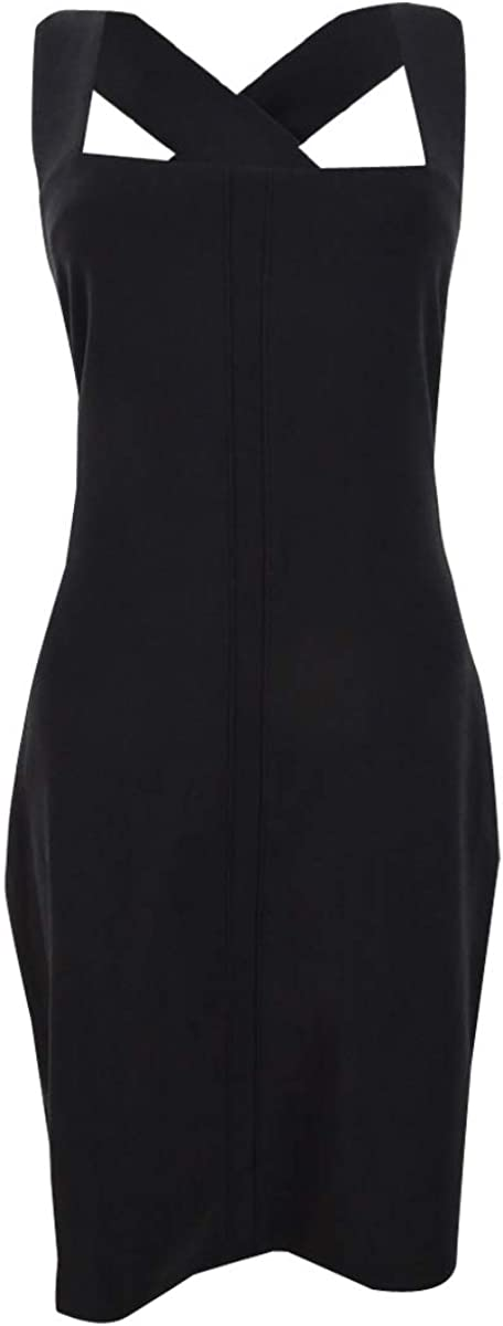 bar III Women's Square-Neck Crisscross-Back Dress