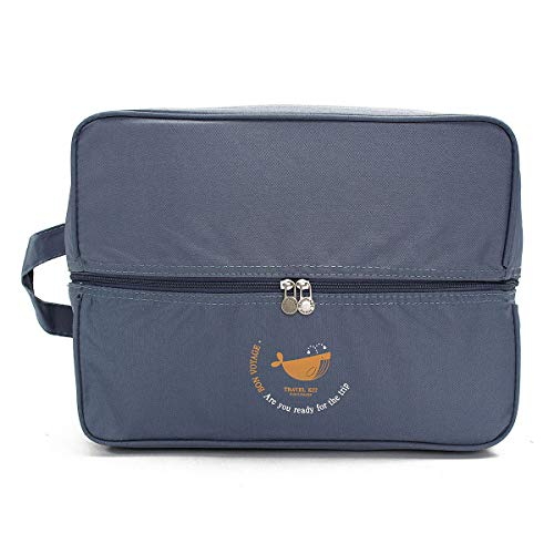 TuToy Portable Nylon Travel Storage Bag Pouch Bag Case Luggage Cosmetic Organizer - bleu
