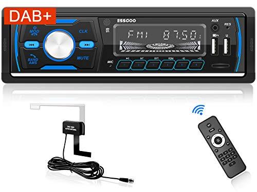 Autoradio mit Bluetooth Freisprecheinrichtung Single Din Auto Radio Touchscreen 7 Farbe MP5 Player Car Stereo mit Rückfahrkamera AM/FM/RDS/USB/TF/AUX Lenkradsteuerung Fernbedienung