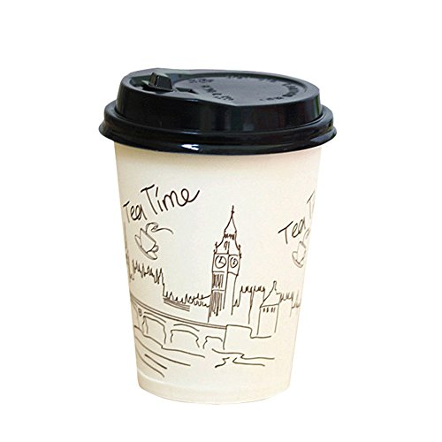 Demarkt–Taza de café vasos vasos desechables vasos de papel cartón tazas Papel de 350ml