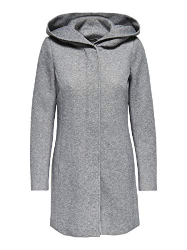 Only onlSEDONA Coat OTW Noos Manteau, Gris (Light Grey Melange), 40 (Taille fabricant: Large) Femme