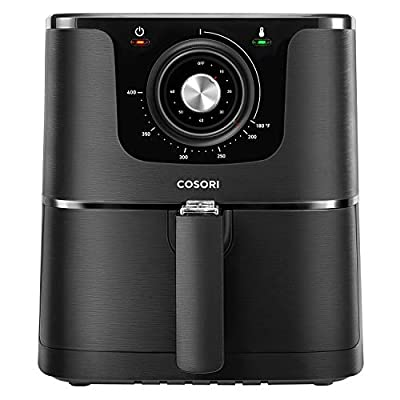 COSORI 1500-Watt Electric Hot Air Fryer Oven Oilless Cooker With Deluxe Temperature Knob Control, Nonstick Basket Recipe Cookbook Included, ETL Listed, 3.7-Quart