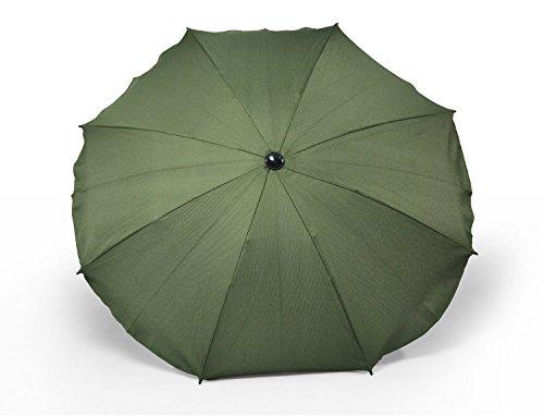 Sombrilla y paraguas universal para carros y sillas de bebé, con soporte universal, protección contra rayos UV 50+ verde oliva