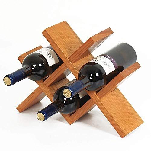 HJXSXHZ366 Estantería de Vino Estante del Vino Vino Rack apilable de Soporte de encimera Armario Bodega de Almacenamiento de Soporte Estante de Vino pequeño (Color : Deep Color, Size : 36x27x10cm)