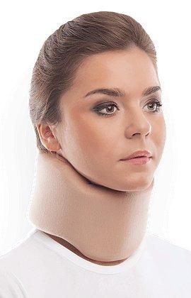 Halskrause Nackenstütze Erholung Halskrawatte Zervikalstütze - Einstellbarer - Weich, 100% Baumwollgewebe - Entlastet Wirbelsäule, Muskel, Gelenkdruck Medium Beige
