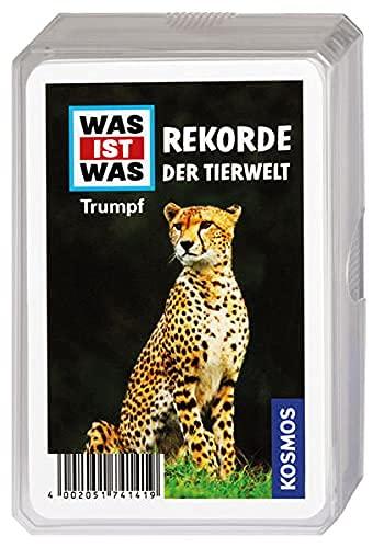 KOSMOS 741419 WAS IST WAS Rekorde der Tierwelt, Trumpf-Kartenspiel, für Kinder ab 8 Jahre