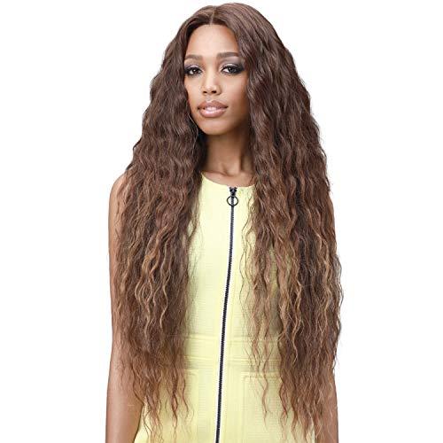 Bobbi Boss Human Hair Blend Glueless 13X7 Lace Frontal Wig MBLF003 Eliza (TT1B/BL.BK)
