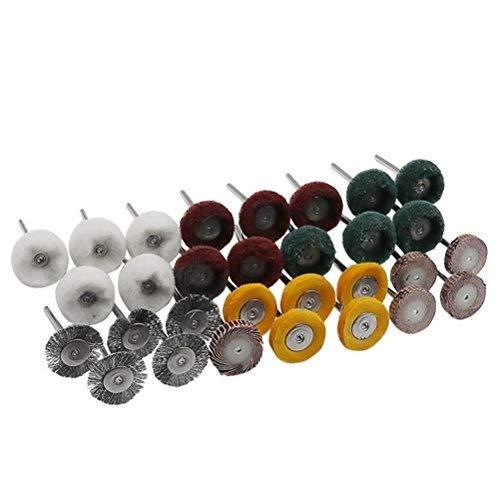 UKCOCO 30pcs ruedas abrasivas que pulimentan el conjunto accesorio del taladro del...