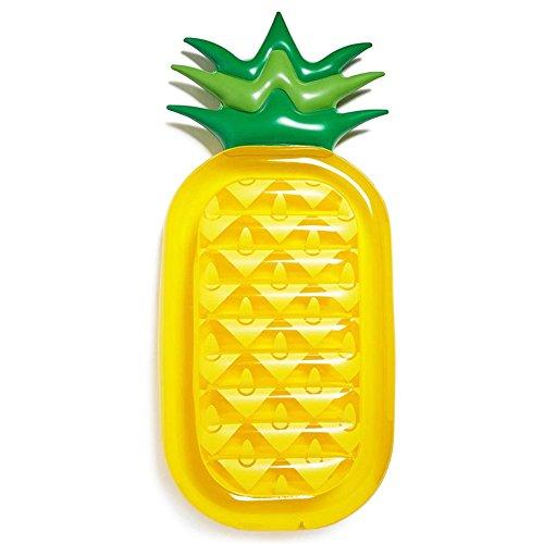 UISEBRT Aufblasbar Ananas Luftmatratze Riesiger PVC Pool Schwimmmatratze für Erwachsene & Kinder,200 x 90 x 20cm (Ananas)