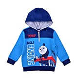 Thomas and Friends Pullover Hoodie for Boys, Fleece Half Zip Hooded Sweater, Size 3T Blue