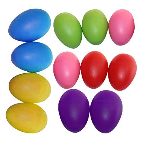 Happyyami 24 Piezas de plástico Huevos Coloridos Huevos Artificiales Huevos de Pascua DIY decoración Artesanal Adorno para Oficina de Fiesta en casa (Color Surtido)