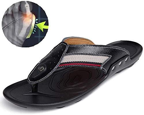 ASDF Zapatos de Playa de Verano para Hombres Sandalias de corrección de Hueso de Dedo Gordo cómodas Sandalias ortopédicas Chanclas Sandalias y Zapatillas de Cuero