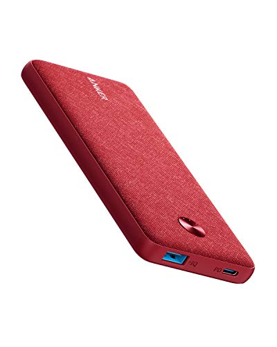Anker PowerCore III Sense 10K, 10000mAh Portable Charger USB-C Power Delivery (18W) Power Bank for iPhone 11/11 Pro / 11 Pro Max / 8 / X/XS/XR, S10, Pixel 3, iPad Pro 2018, and More (Venetian Red)