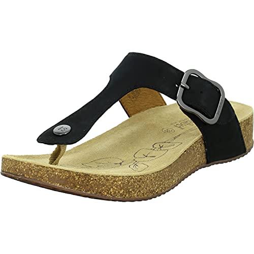 Josef Seibel Damen Flip Flops Leder Tonga 63,Weite G (Normal),Lady,Ladies,Women's,Woman,zehenstegsandalen,flip,Flops,bequem,schwarz,39 EU / 6 UK