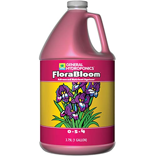 General Hydroponics HGC718015 FloraBloom 0-5-4, Use With FloraMicro & FloraGro For A Tailor-Made Nutrient Mix, Provides Nutrients For Reproductive Growth, Ideal For Hydroponics, 1-Gallon