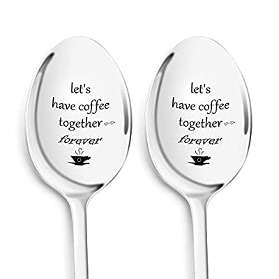 Dafuz Coffee Spoons,304 Espresso Spoon,Valentines Day Gifts for Wife and Husband,for Lover, Best Friends, Coffee Lovers