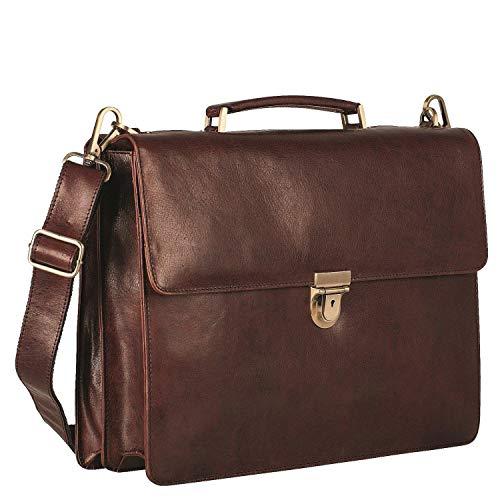 Leonhard Heyden Cambridge 15'' Cartella con scomparto per laptop marrone rosso