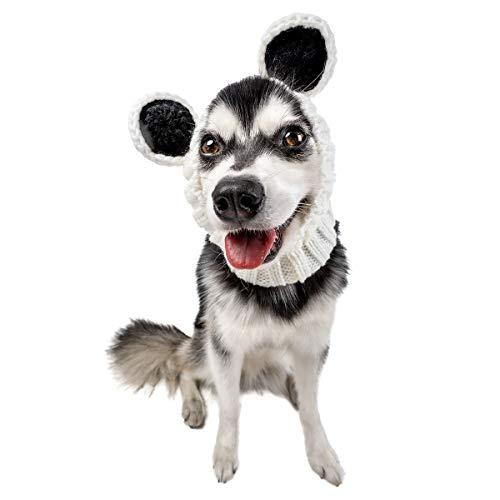 Zoo Snoods Panda Dog Costume - Neck and Ear Warmer Hood for Pets (Medium)