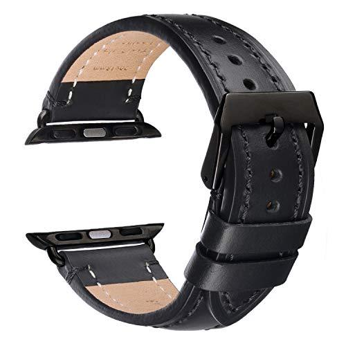Matematikus Cinturino in pelle di alta qualità compatibile con Apple Watch Serie 5/4/3/2/1, Sport, Edition – Cinturino di ricambio compatibile con iWatch 38mm/40mm, 42mm/44mm