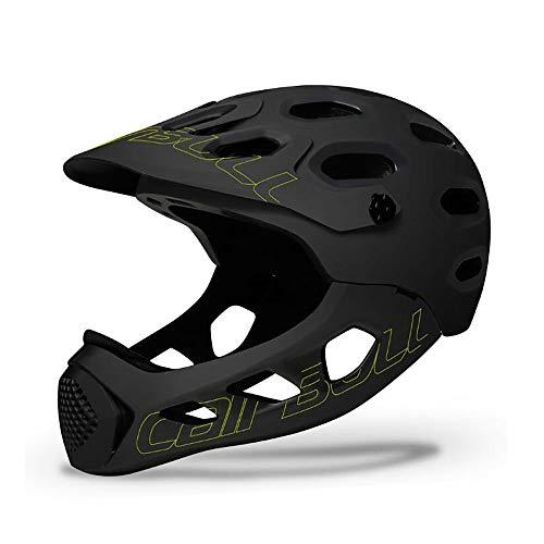 HUAGE Cascos nuevos, Cascos para Bicicletas de montaña, Cascos de Seguridad Deportivos al Aire Libre, Cascos para hombres-56-62cm (Color : Black Fluorescent Yellow)