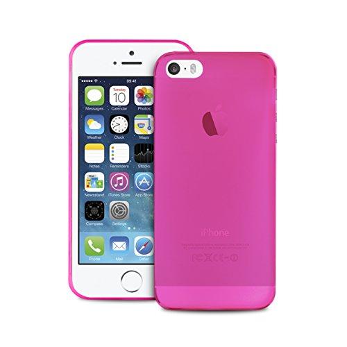 Puro Custodia UltrA-Slim ''0.3'' Iphone 5 / 5s / SE Rosa Screen Protector Incluso