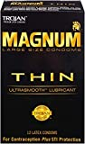 Trojan Magnum Thin Large Size Lubricated Condoms - 12 Count